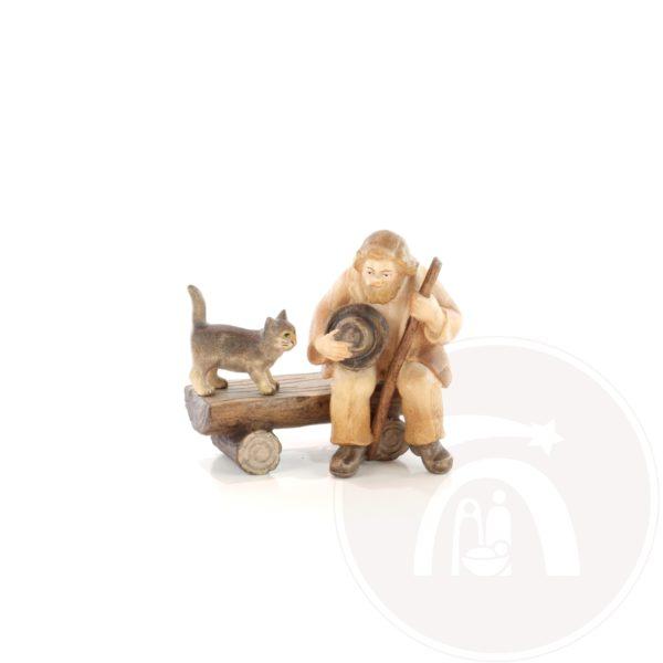 Herder op bankje met kat (7953637162)