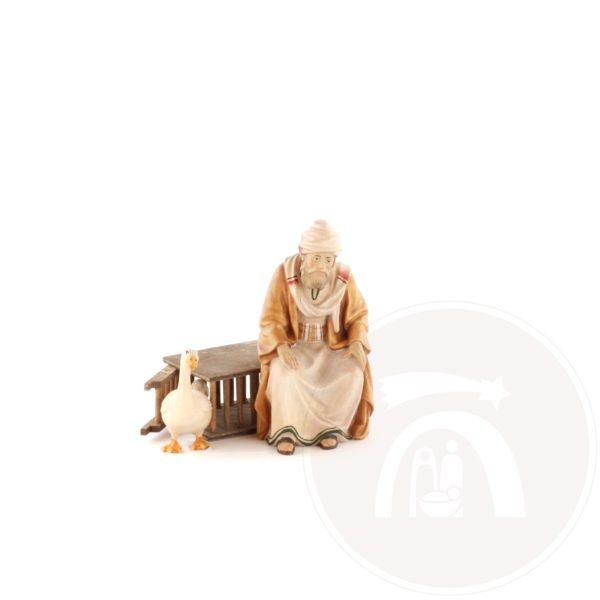 Ganzenhoeder zittend op kooi met gans (23236922300)