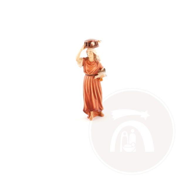 Vrouw met kooi op hoofd (10601-37)